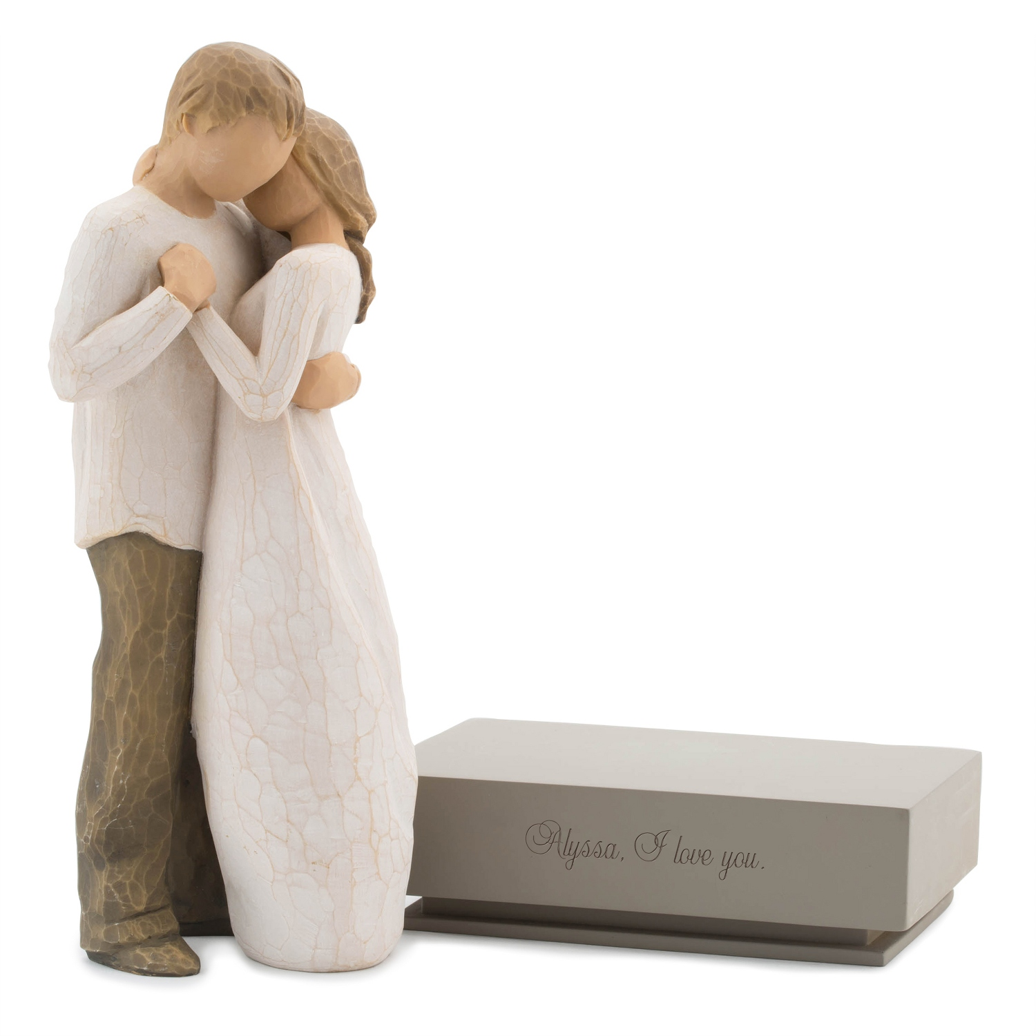 willow tree promise figurine with shelf stand. Black Bedroom Furniture Sets. Home Design Ideas