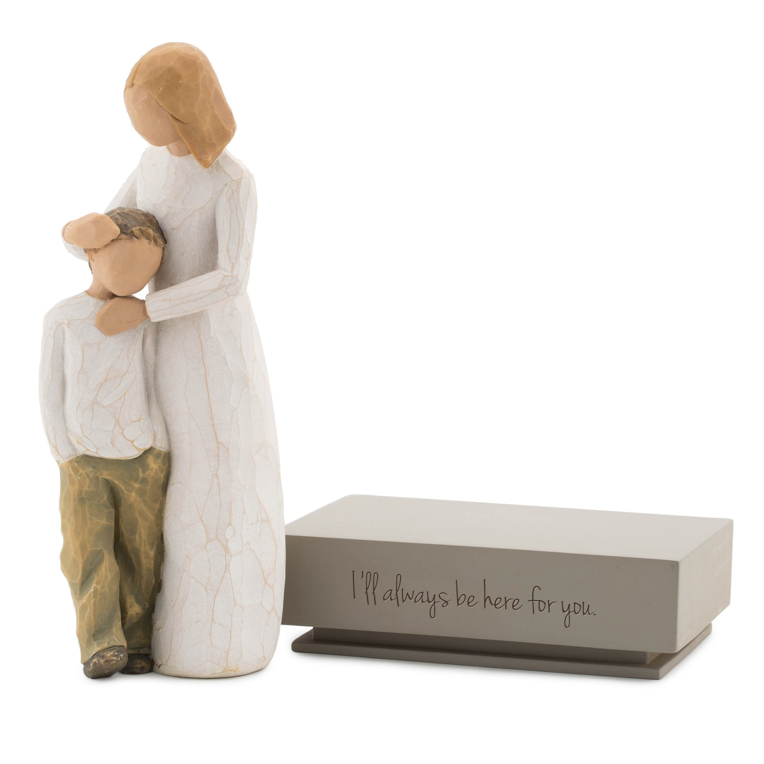 willow tree mother and son figurine with shelf stand. Black Bedroom Furniture Sets. Home Design Ideas