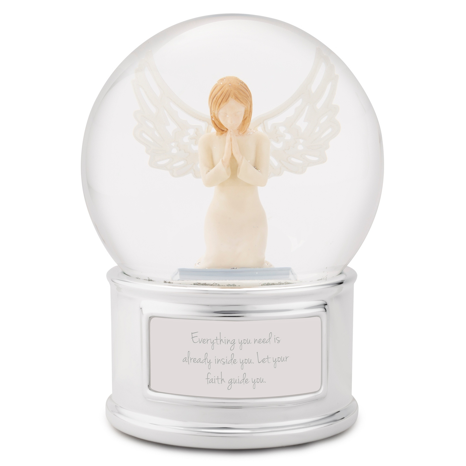 Personalized memorial sympathy gifts at things remembered praying angel snow globe negle Choice Image