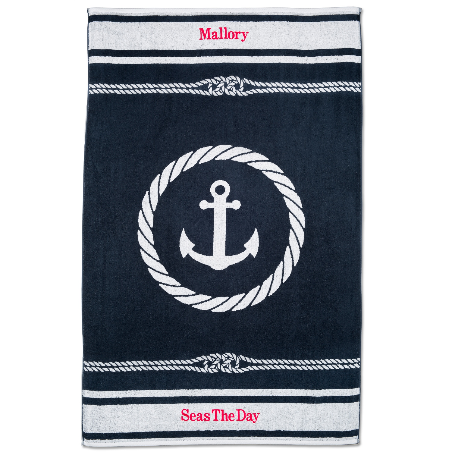 Nautical Flags Bath Towels: Nautical Beach Towel