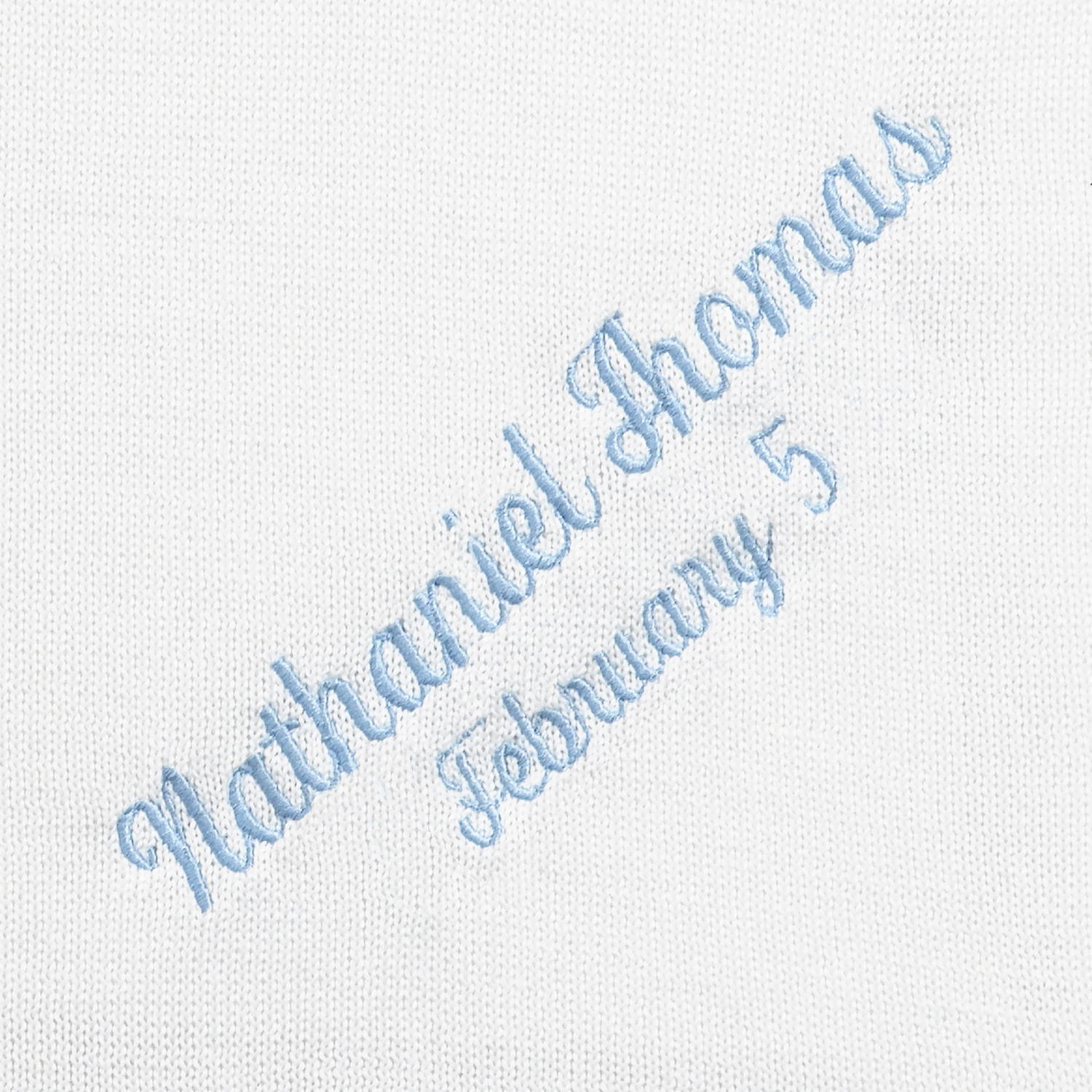 Things Remembered Personalized White Christening Blanket with Embroidery Included