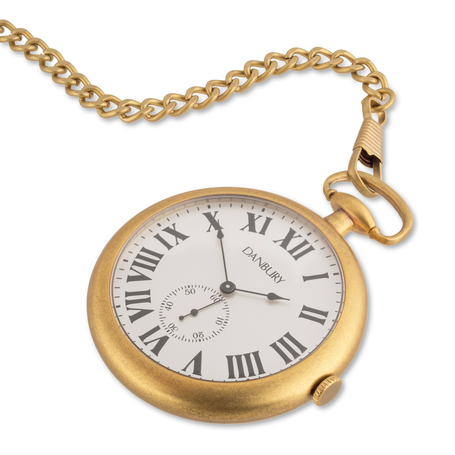 Brass Open-Face Pocket Watch