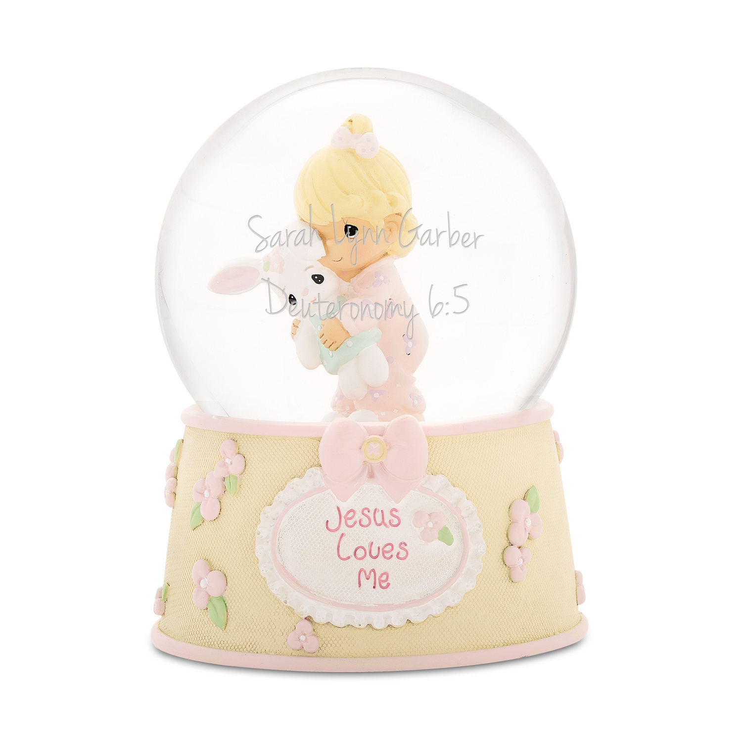 Precious Moments Baby Girl Musical Snow Globe