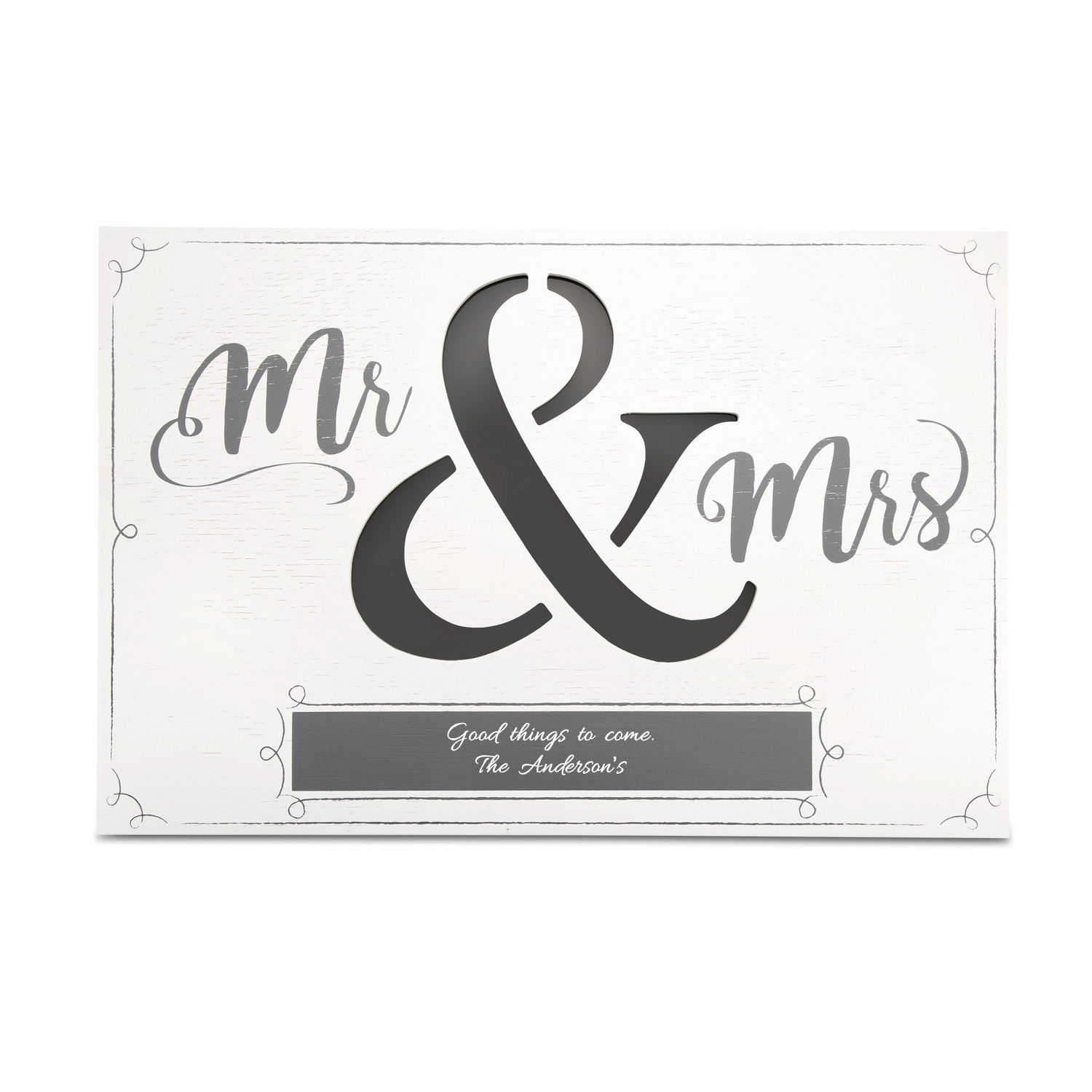Personalized picture frames at things remembered mr and mrs led wall art jeuxipadfo Image collections