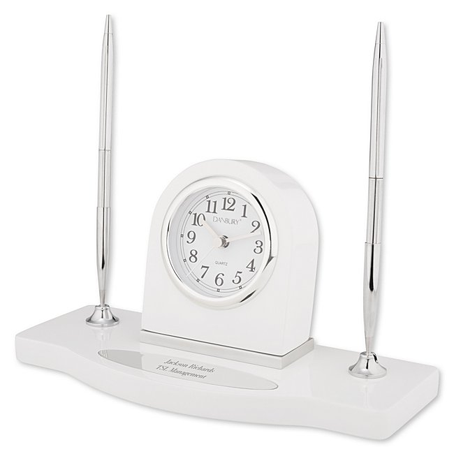 White Double-Pen Stand...