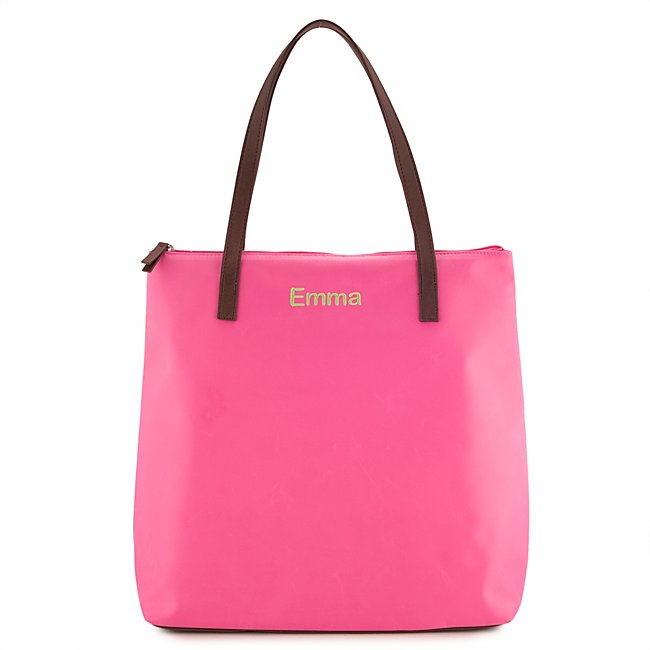 Pink Nylon 18-Inch Tote...