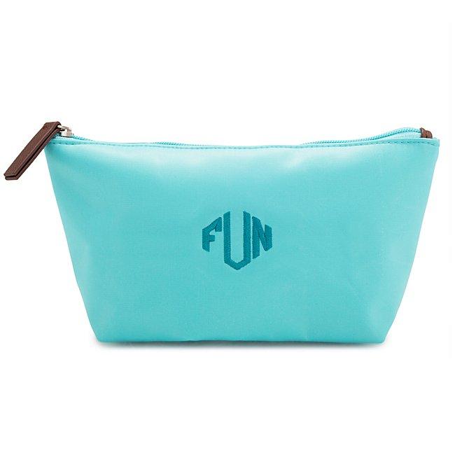 Aqua Nylon Cosmetic Case...