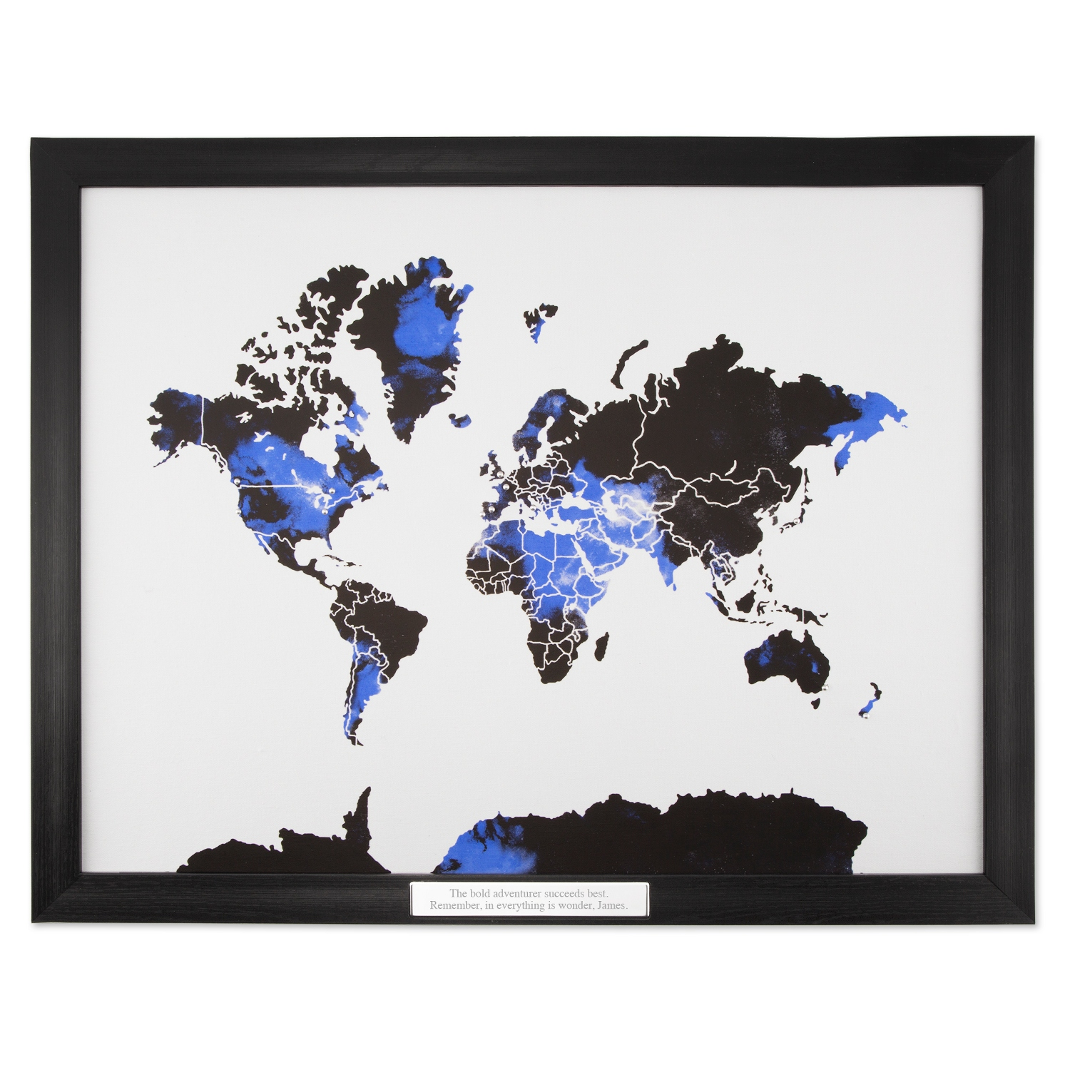 World map framed print watercolor world map framed print gumiabroncs Image collections