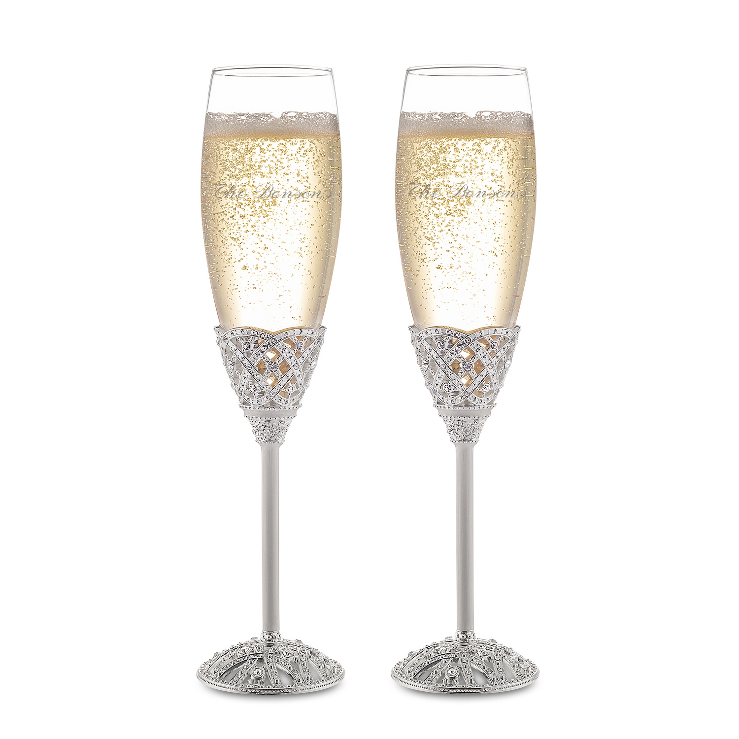 Engraved Champagne Flutes at Things Remembered