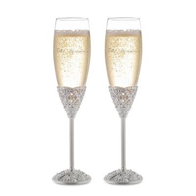 elizabeth champagne flute set