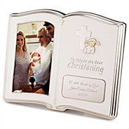 christening book with 4x6 frame