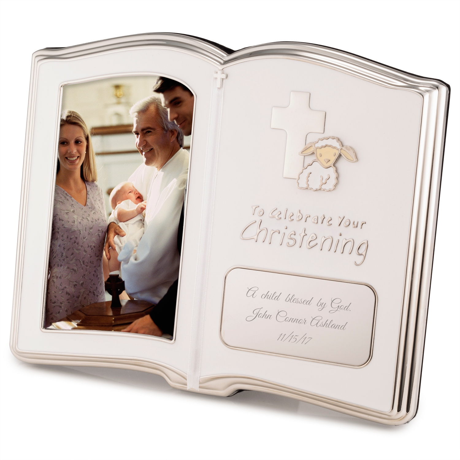 Personalized baptism christening gifts at things remembered christening book frame christening negle Image collections