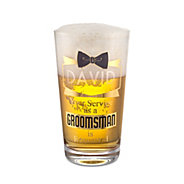 groomsman pint glass groomsman - Glass Beer Mugs