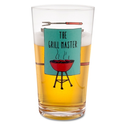 The Grill Master Pint Glass
