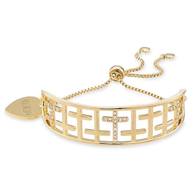 Gold Cross Cuff Lariat...
