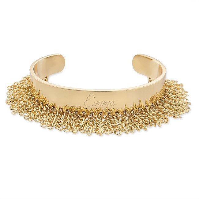 Gold Fringe Cuff Bracelet...