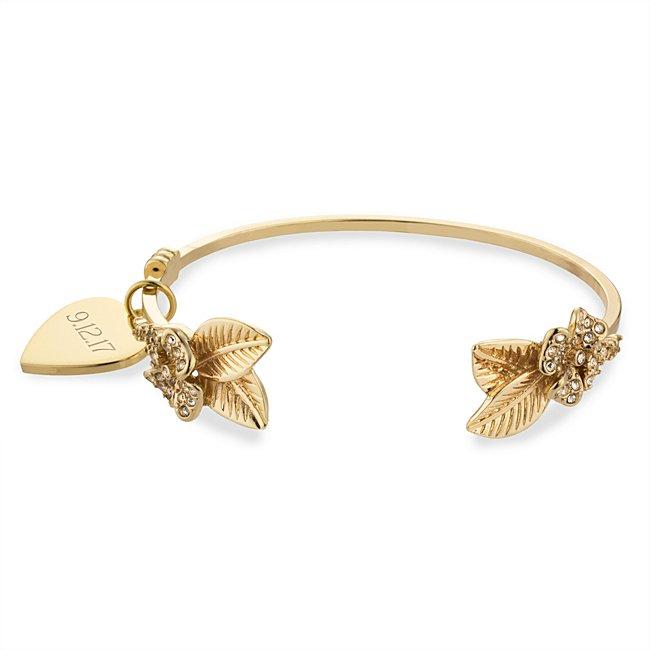 Gold Crystal Leaf Cuff...
