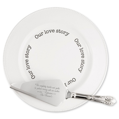 Love Story Plate and Cake Server Set