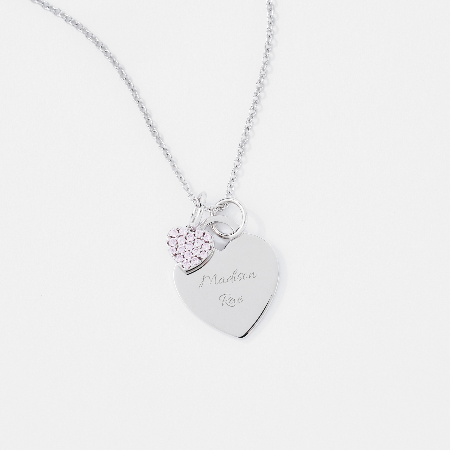 Sterling silver heart charm necklace girls sterling silver heart charm necklace mozeypictures Gallery