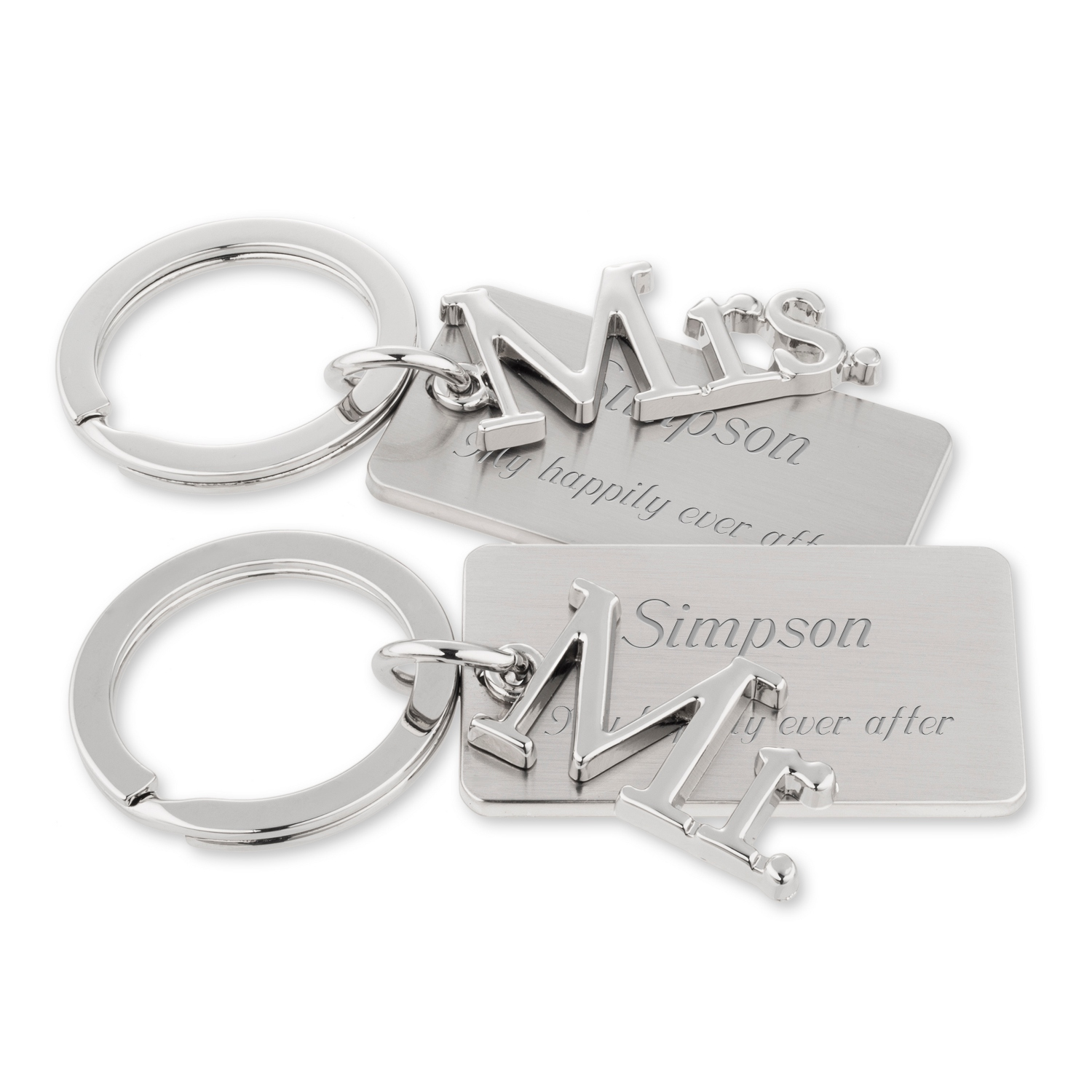 Mr and Mrs Key Chains