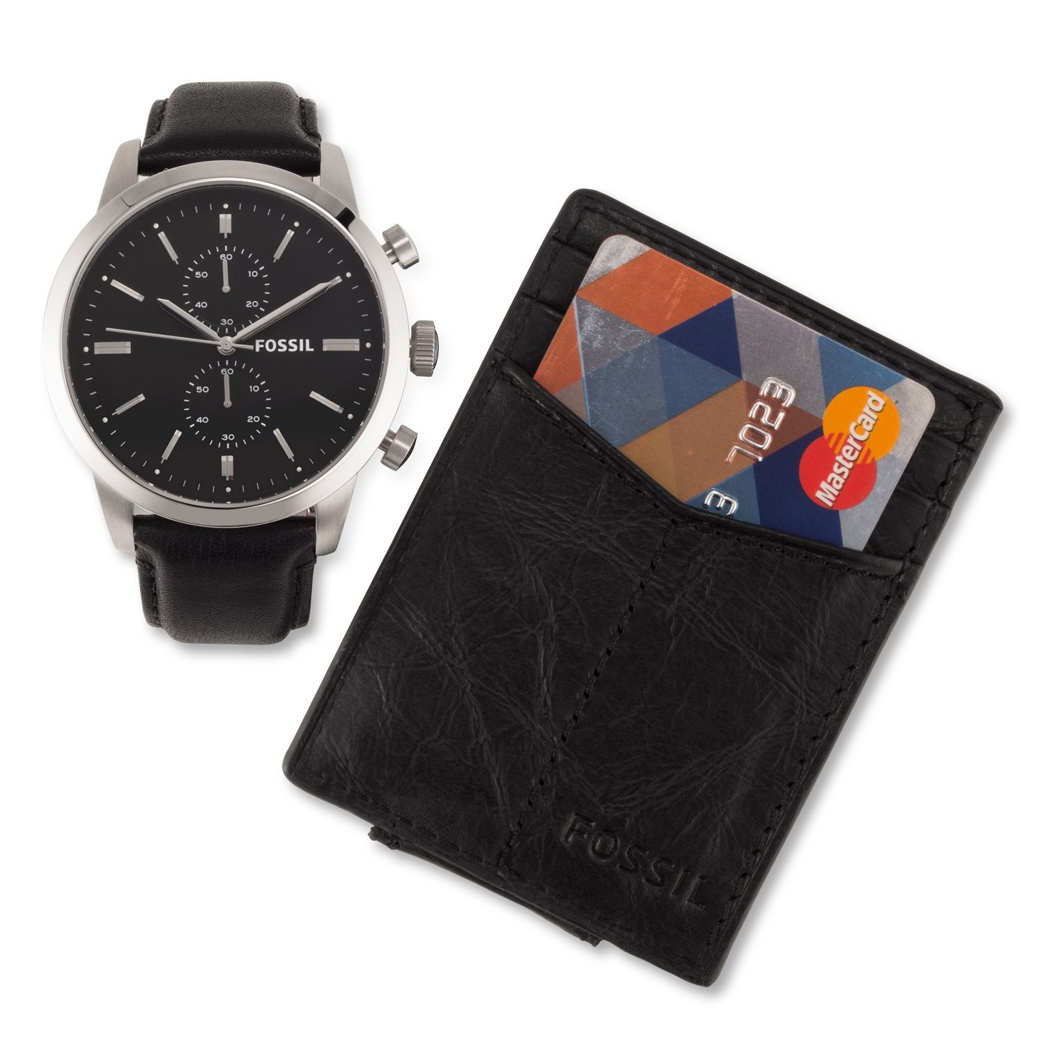 Mens Townsman Leather Watch and Wallet Set