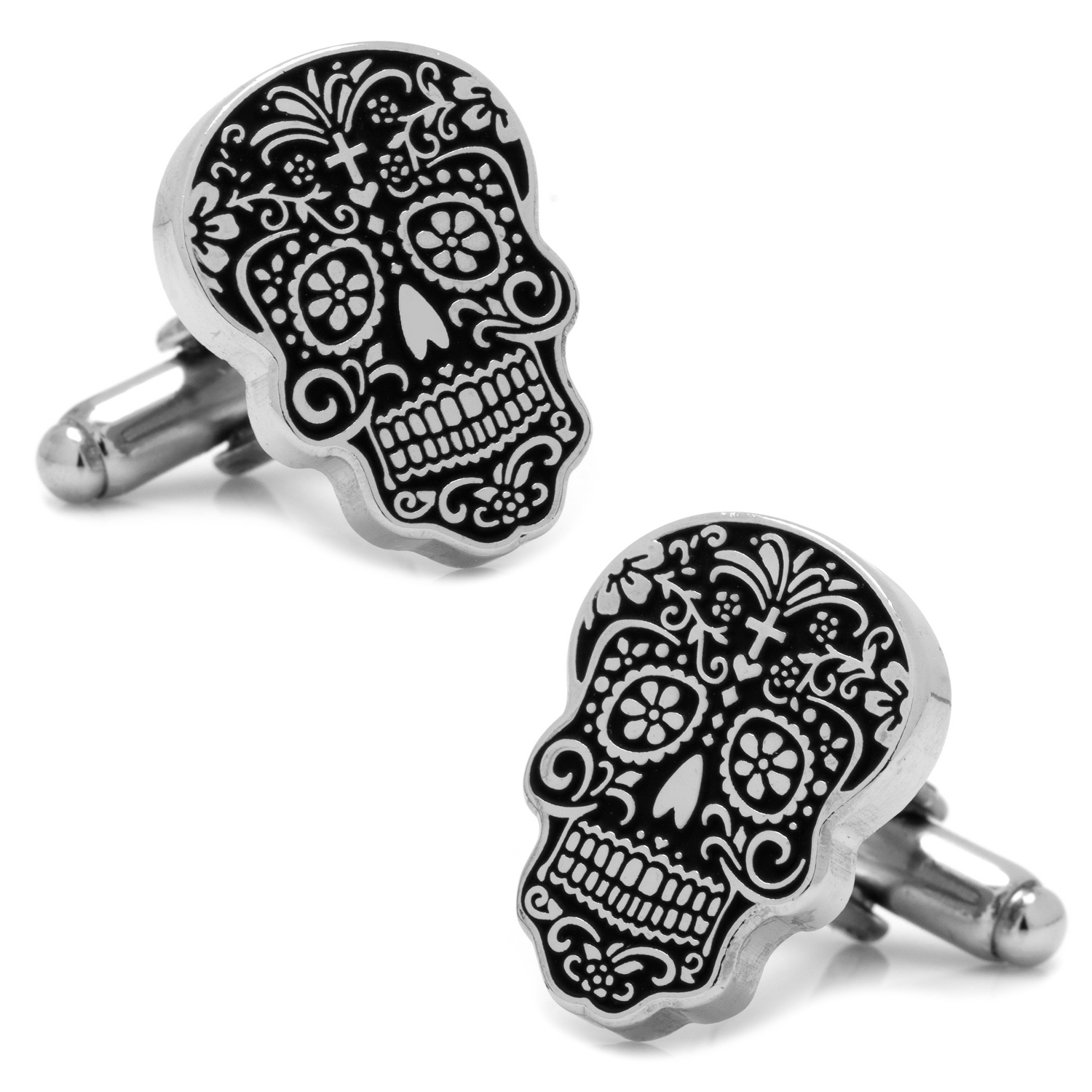 Day of the Dead Silver Tone Cuff Links