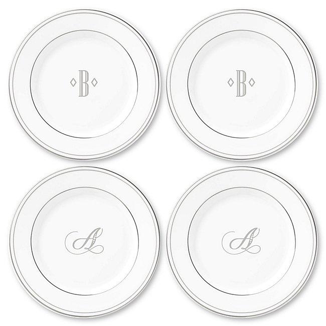 Lenox Monogram Platinum Appetizer Plate Set of Four photo