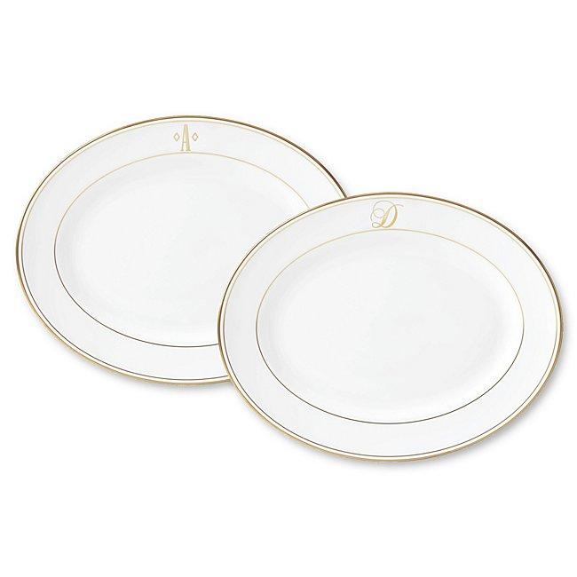 Lenox Monogram Gold Oval Platter photo