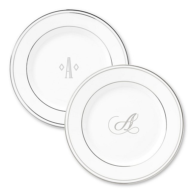 Lenox Monogram Platinum Appetizer Plate photo
