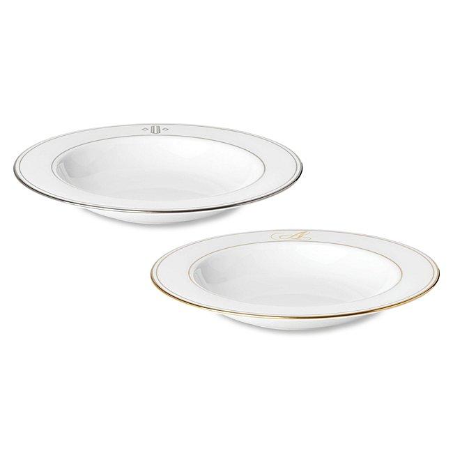 Lenox Monogram Soup Bowl, In White, White Bone China/Bone, By Things Remembered photo