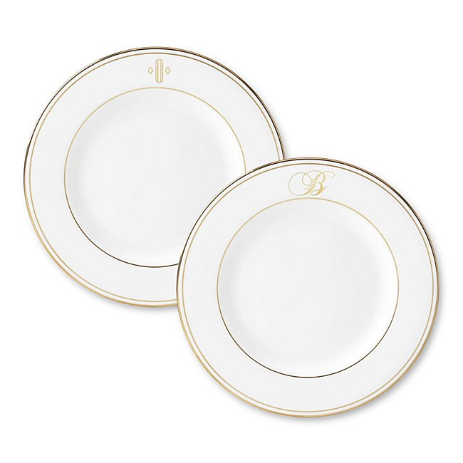 Lenox Monogram Gold Salad Plate photo