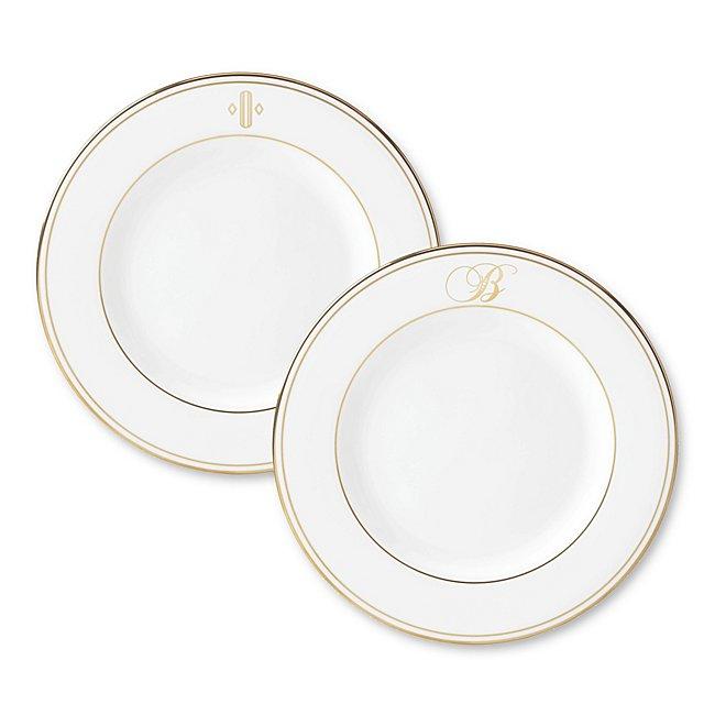 Lenox Monogram Gold Dinner Plate photo