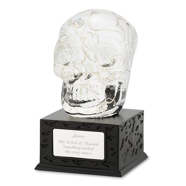 Skull Lighted Snow Globe...