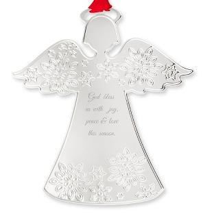 Snowflake Angel Pierced Ornament