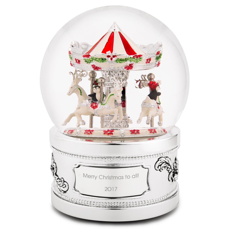 penguin carousel musical snow globe - Christmas Musical Snow Globes