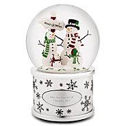 Make A Wish Snowman Family Snow Globe