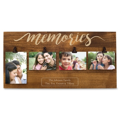 Memories Four Photo Clip Wall Frame