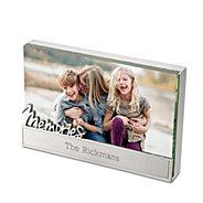 memories glass block frame - Engraved Photo Frame
