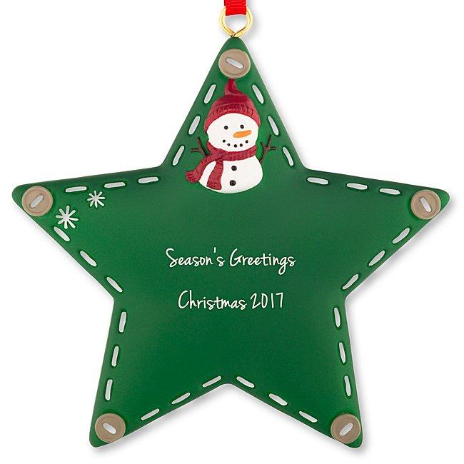 Green Stitched Star Ornament...