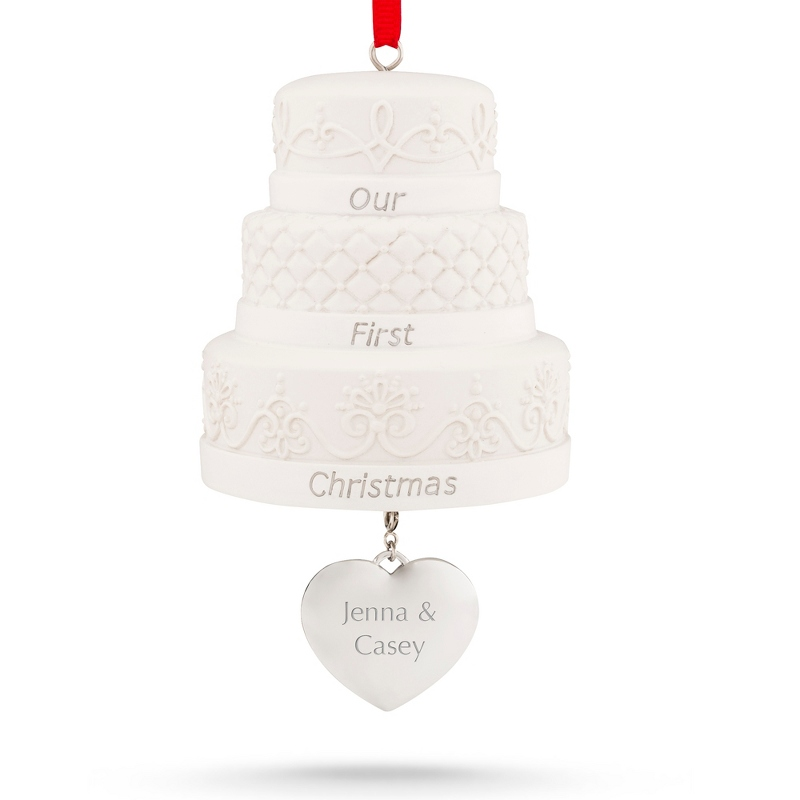 Our First Christmas Wedding Cake Ornament