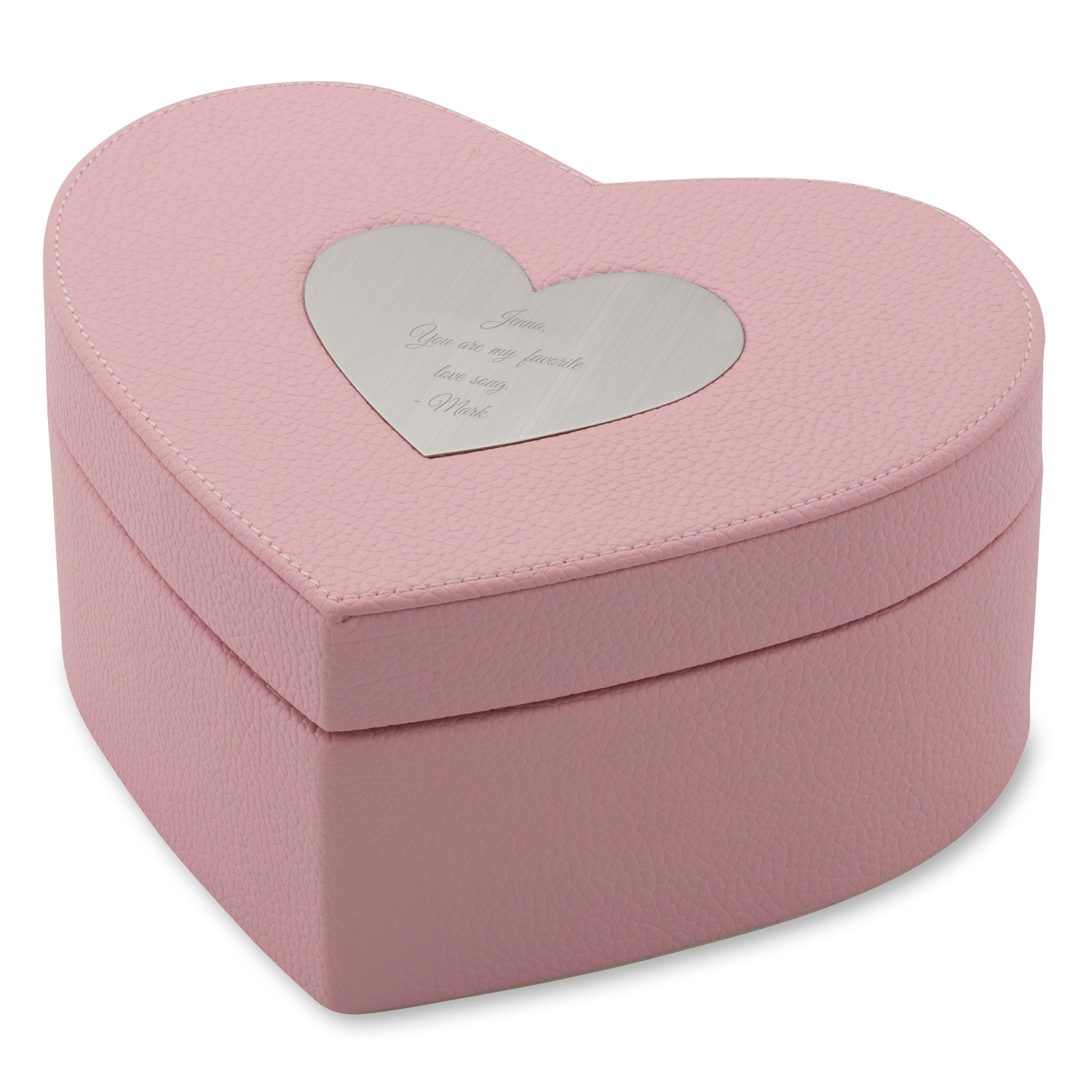 Girls pink heart jewelry box for Heart ring box