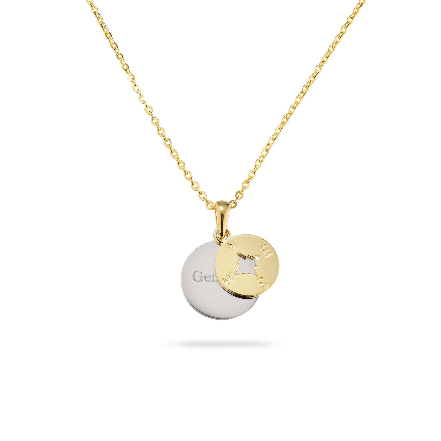 luna roam compass essentials la necklace rose chain products gold born to jewellery charm