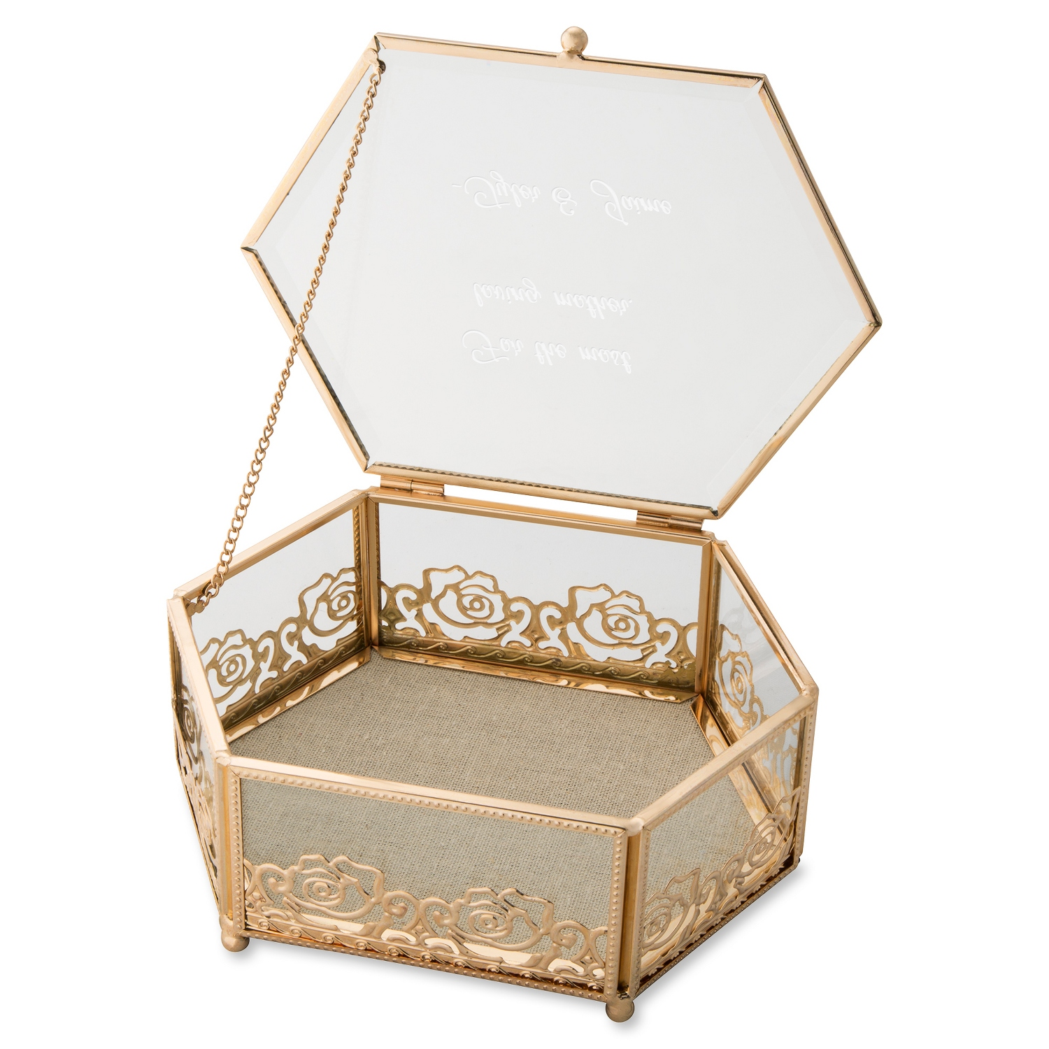 things remembered jewelry box glass jewelry box 5548
