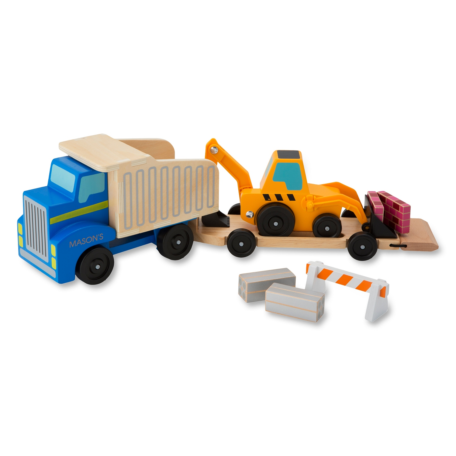 Melissa and Doug Dump Truck and Loader Set