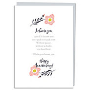 Happy anniversary cards at things remembered i choose you anniversary greeting card m4hsunfo