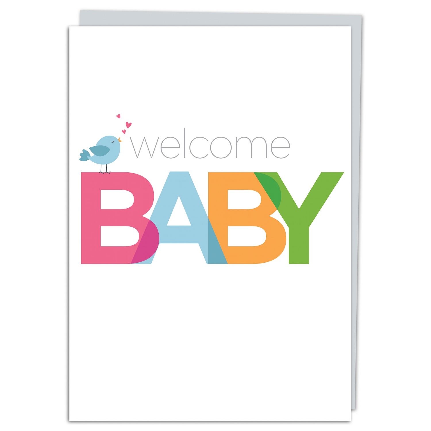 Welcome Baby Bird Greeting Card