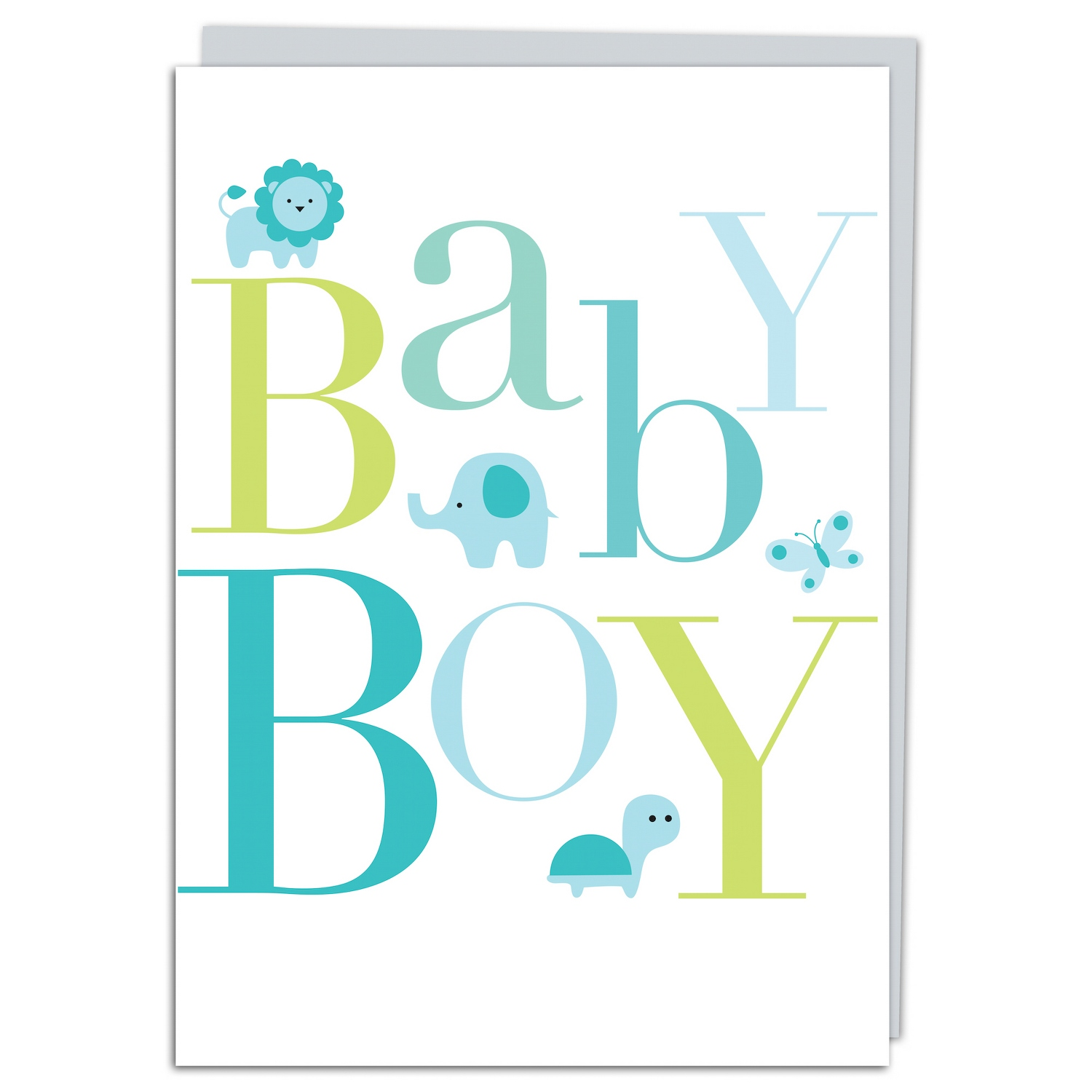 Baby Boy Lions Greeting Card
