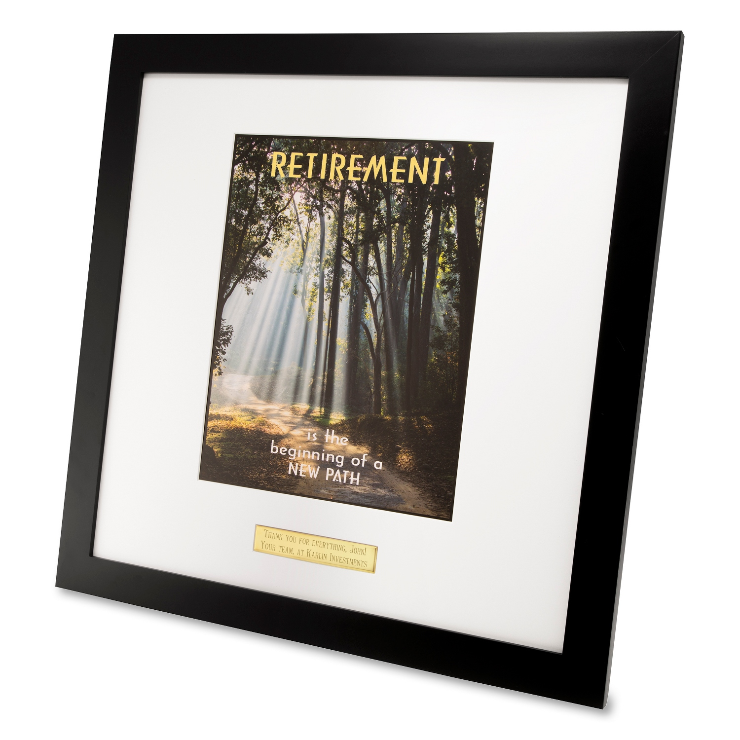 Large Retirement Motivational Framed Wall Art