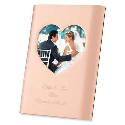 Rose Gold Heart Cutout Frame