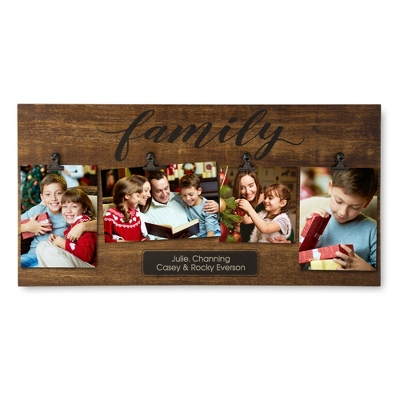 Family Four Photo Clip Wall Frame